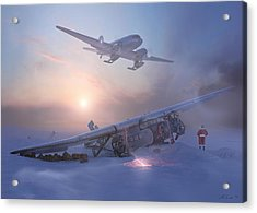 Rough Night At The North Pole Acrylic Print