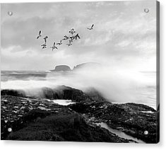 Acrylic Print featuring the photograph Rough Seas by Roy  McPeak