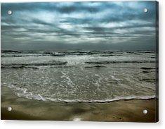 Acrylic Print featuring the photograph Rough Surf by Ellen Heaverlo