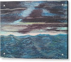 Rough Water Acrylic Print by Michael Dancy