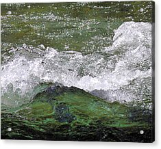 Rough Waters Acrylic Print by Jessica Tookey