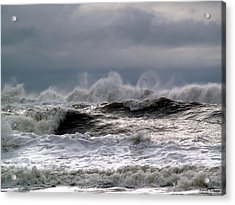 Rough Waves Acrylic Print by Deborah Hughes