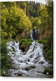 Acrylic Print featuring the photograph Roughlock Falls South Dakota by Patti Deters