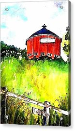 Round Barn Santa Rosa Acrylic Print