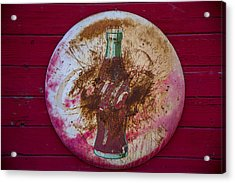 Round Coke Sign Acrylic Print by Garry Gay