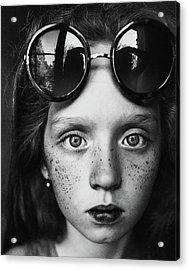 Round Glasses Reflection Acrylic Print