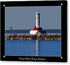 Round Island Passage Lighthouse Acrylic Print