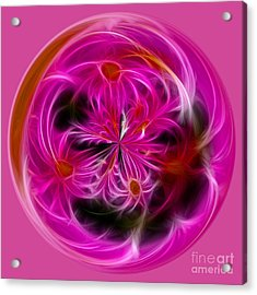 Round Pink And Pretty By Kaye Menner Acrylic Print by Kaye Menner