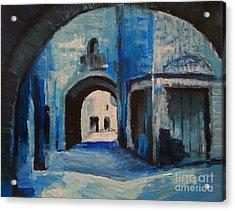 Acrylic Print featuring the painting Round The Corner by Maja Sokolowska