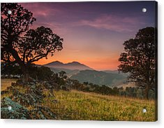 Round Valley After Sunset Acrylic Print by Marc Crumpler