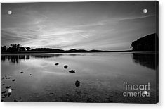 Round Valley At Dawn Bw Acrylic Print