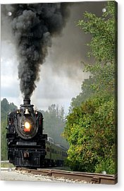 Steamin' In The Valley Acrylic Print