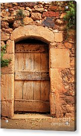 Roussillon Door Acrylic Print by Inge Johnsson