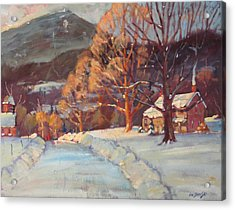 Acrylic Print featuring the painting Route 116 Savoy by Len Stomski