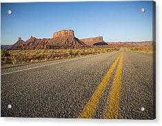 Route 128 Near Castle Valley Acrylic Print by Adam Romanowicz