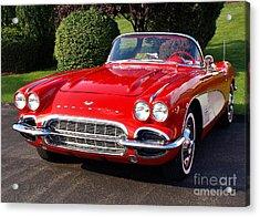 Route 66 - 1961 Corvette Acrylic Print