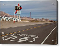 Route 66 At Amboy Acrylic Print