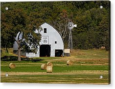Route 66 Barn Acrylic Print by Doug Long