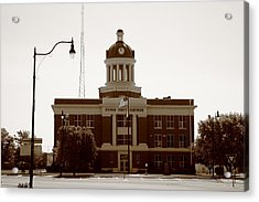 Route 66 - Beckham County Courthouse Acrylic Print