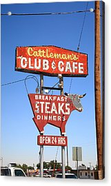 Route 66 - Cattleman's Club And Cafe Acrylic Print