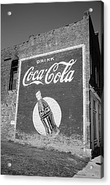 Route 66 - Coca Cola Ghost Mural Acrylic Print by Frank Romeo