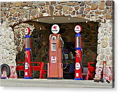 Route 66 - Cool Springs Camp Az Acrylic Print by Christine Till