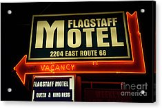 Route 66 Flagstaff Motel Acrylic Print by Bob Christopher