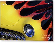 Route 66 Flaming Rod Acrylic Print by Bob Christopher
