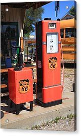 Route 66 Gas Pumps Acrylic Print by Frank Romeo