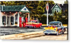 Route 66 Historic Texaco Gas Station Acrylic Print by Thomas Woolworth