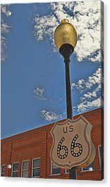 Route 66 Light Post Acrylic Print