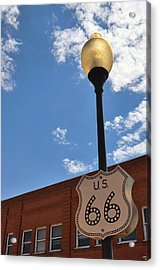 Route 66 Light Post Vivid Acrylic Print