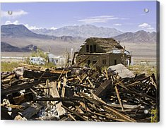 Route 66 Ludlow Decay Acrylic Print