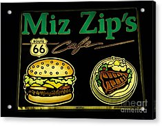 Route 66 Miz Zips Acrylic Print by Bob Christopher