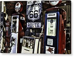 Acrylic Print featuring the painting Route 66 by Muhie Kanawati