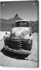 Route 66 - Old Chevy Pickup Acrylic Print by Frank Romeo