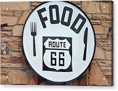 Route 66 Restaurant  Acrylic Print by Cynthia Guinn
