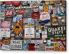 Route 66 Signs Acrylic Print by Lynn Sprowl