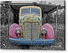 Acrylic Print featuring the photograph Route 9 Truck by Sebastian Mathews Szewczyk