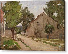 Route De Port-marly, C.1860-67 Acrylic Print by Camille Pissarro