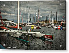 Acrylic Print featuring the photograph Route Du Rhum Ready by Elf Evans