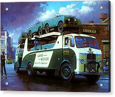 Rovers For Export. Acrylic Print by Mike  Jeffries