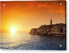 Rovinj By Sunset Acrylic Print by Focusstock