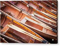 Row Boats Acrylic Print by Stefan Nielsen