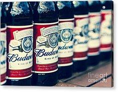 Row Of Beer Bottles Acrylic Print