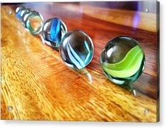 Row Of Marbles Acrylic Print