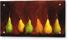 Row Of Pears Acrylic Print by Marie-louise McHugh