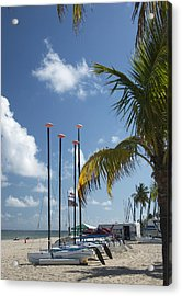 Acrylic Print featuring the photograph Row Of Sailboats by Bob Pardue