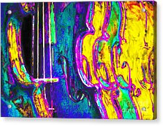 Row Of Violins - 20130129v2 Acrylic Print by Wingsdomain Art and Photography