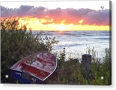 Rowboat At Sunrise Acrylic Print